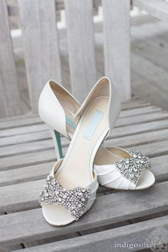 Stunning sparkling heels: http://www.stylemepretty.com/north-carolina-weddings/wilmington-nc/2014/11/24/romantic-north-carolina-wedding-at-the-atrium/ | Photography: Indigosilver - indigosilverstudio.com