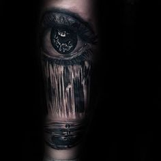 Tears Water Droplet Realistic Guys Waterfall Arm Tattoos