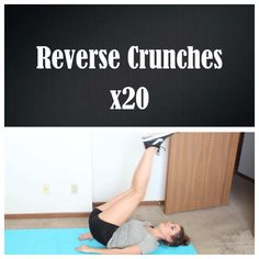 Reverse crunches: lift your lower body up and back down. (Credit: Tess Christine)