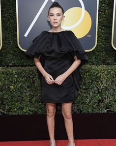 Millie's dress at the golden globes