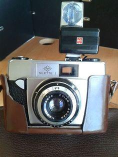 Vintage AGFA Silette I camera with field case by KatyRoseVintage Making Tools, Rose, Bags, Vintage, Advertising, Handbags, Pink, Roses, Dime Bags