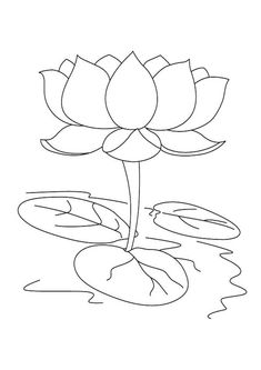 Beautiful Lotus Coloring Pages for Kids Buddhist Artwork, Lily Images, Flower Coloring Pages, Flower Art Drawing, Johanna Basford Coloring Book, Relaxing Coloring Book, Flower Printable, Flower Drawing, Printable Flower Coloring Pages