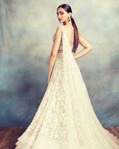 An offbeat white bridal lehenga colour that will rule 2020