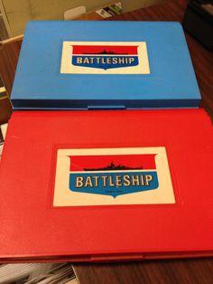 Milton Bradley BATTLESHIP from the 70s.  Made in by JandaPanda, $10.00