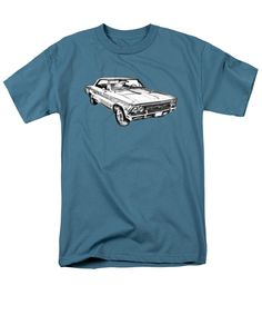 a879a6df9 1966 Chevy Chevelle Ss 396 Illustration T-Shirt for Sale by Keith Webber Jr