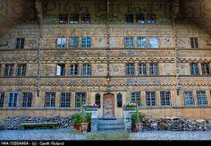 Rossinière-Grand chalet, Switzerland, Europe, canton Freiburg, Fribourg, village, house, home