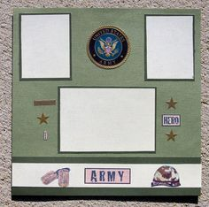 Army Hero Premade Scrapbook Pages, military, serviceman, servicewomen, patriotic.    Click this Pin to visit the best site for handmade scrapbook pages http://www.etsy.com/shop/SWAKScrappin, $5.99
