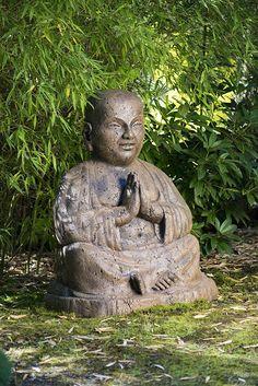 Giant Temple Buddha. Japanese Garden OrnamentsConcrete StatuesJapanese ...