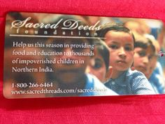 Your purchase of Sacred Threads label clothing  helps to fund Sacred Deeds.
