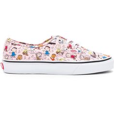 Vans Peanuts Authentic Sneaker ($65) ❤ liked on Polyvore featuring shoes, sneakers, laced sneakers, textile shoes, lace up shoes, vans shoes and rubber sole shoes