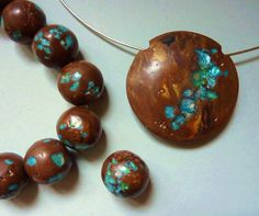Tutorial how to make faux Yowah opal polymer clay beads
