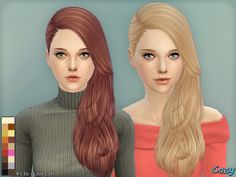 Emma's Simposium: Free Sims 4 Hair Pack #020 by Cazy Gifted/Donated ...