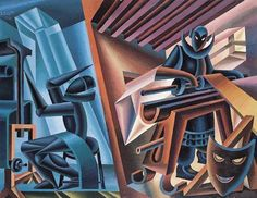 Tornio e telaio, Fortunate Depero, 1949.