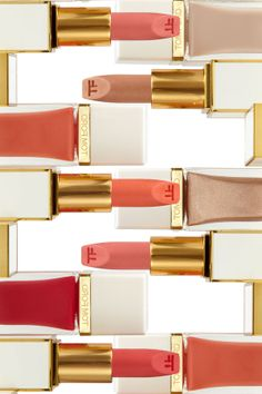 I'll take a make-up drawer of these, please.  Tom Ford lipsticks and polishes for Spring 2014.