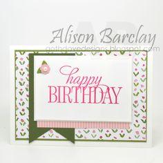 Gothdove Designs - Alison Barclay - Stampin' Up! Australia - Happy Birthday Everyone - English Garden DSP #stampinup