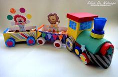 Silvia Scrap: Llego el tren con el circo