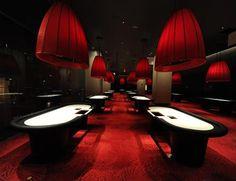 The poker room at Revel is lush.