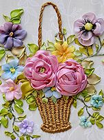 Wonderful Ribbon Embroidery Flowers by Hand Ideas. Enchanting Ribbon Embroidery Flowers by Hand Ideas. Ribbon Embroidery Tutorial, Rose Embroidery, Silk Ribbon Embroidery, Embroidery Stitches, Embroidery Patterns, Ribbon Art, Diy Ribbon, Band Kunst, Brazilian Embroidery