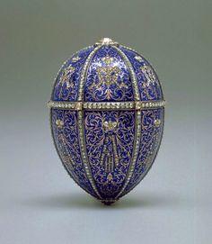 1896. Imperial Fabergé Egg No. 14, the Alexander III Portraits Egg or Twelve…