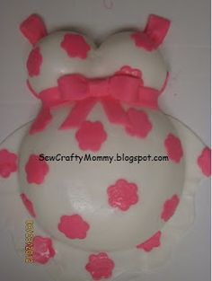 Pregnant Belly cake DIY steps.  How adorable is this cake for a mommy to be?