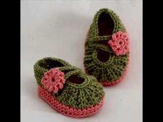 Daisy Baby Booties - Knitting Pattern Presentation - YouTube