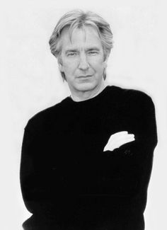 Alan Rickman--so much more than Snape.  There will be no foolish merging or exiting the highway within  the next three miles.
