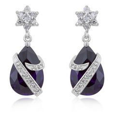 $70 Embraced Amethyst Earrings at https://shopsto.re/items/4965 #accessories #jewelry#earrings