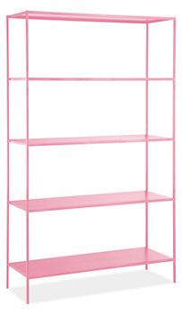 storage and organizing {pink metal shelves} come in a ton of different colors roomandboard