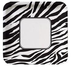 Zebra Print Lunch Plates for Bachelorette Party Ideas