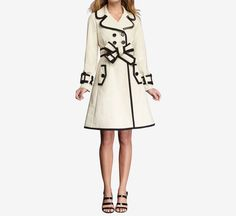 Kate Spade Cream And Black Coat. Need!!!