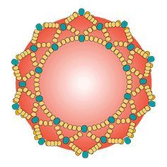 How to make a netted bezel - Beading Techniques from Fusion Beads.  #Seed #Bead #Tutorials