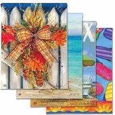 Garden Flags for Every Season - Beachy (4-Flag Bundle)