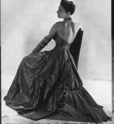 Mainbocher, 1947:  the first Western designer to re-envision Indian sari silks, draping them into couture gowns. Description from pinterest.com. I searched for this on bing.com/images
