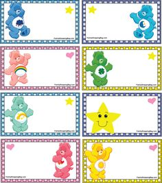 Care Bear Gift Tags