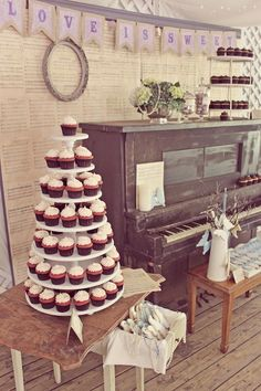 Simple cupcake tower