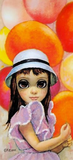 """'AT THE FAIR'  24""""x12"""" oil on canvas (1961) by MARGARET KEANE from the book BIG EYES : The Film, The Art by Leah Gallo (minkshmink collection)"""