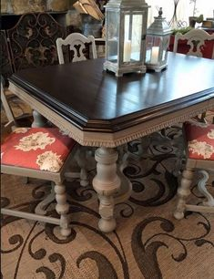 Ideas for kitchen table makeover chalk paint java gel stains Chalk Paint Furniture, Furniture Projects, Diy Furniture, Chalk Paint Table, Furniture Design, Chalk Painting, Modern Furniture, Furniture Refinishing, Coaster Furniture