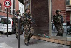 151114 PARIS Nov 14 2015 French soldiers patrol on the street in Paris France Nov 14