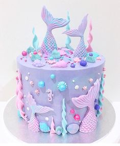 "30 Likes, 5 Comments - Twinkle Sprinkles (@twinkle.sprinkles.au) on Instagram: ""This mermaid cake by @deni_elizabeth is just gorgeous! Love the colours and the use of our Flurry…"""