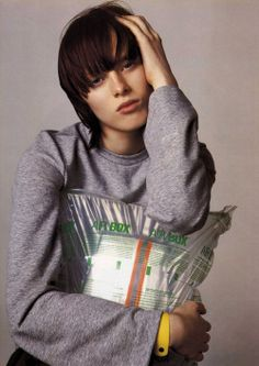 """Forecast"". Karen Elson photographed by Steven Meisel for Vogue Italia, February 1999"