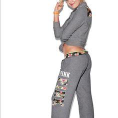 Large PINK Half Zip and Medium Boyfriend Pants Nwt PINK Victoria's Secret Sweaters
