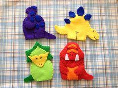 Conjunto de títeres de dedo dinosaurio por JandELearning en Etsy