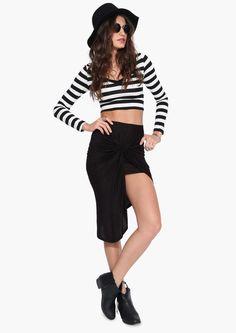 Nauty Maxi Skirt in Black   Necessary Clothing