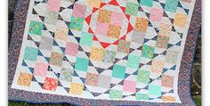 Play with Color to Make it Yours! Square patches and half-square triangles come together into a beautiful quilt with an intriguing overall design. It's a relatively easy quilt to make and one that you'll cherish for years to come. Select one predominant color, in this case the dark blue, one accent color (red) and a …