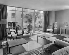 Photos: 28 Apartment Lobbies From The Early 1900s: Gothamist Rockefeller apt lobby 1941