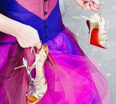 chaussures mariage en couleur  de la  mariée 2015