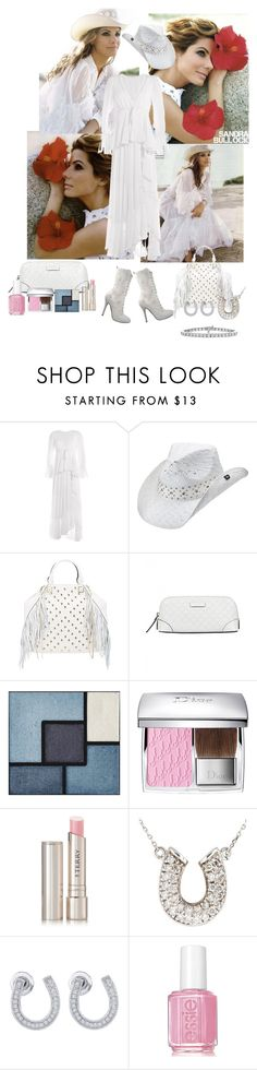 """Sandra Bullock"" by jeanine65 ❤ liked on Polyvore featuring Emilio Pucci, Peter Grimm, Rebecca Minkoff, Gucci, Yves Saint Laurent, Christian Dior, By Terry, Essie, women's clothing and women"