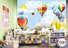 Fototapet Copii 15 Baloane si Animale - VIODesign Abstract, Design, Art, Beast, Photo Wallpaper, Summary, Art Background, Kunst