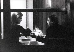 Jacqueline Onassis giving second husband Aristotle the side-eye during dinner.