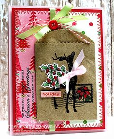 Soaring: TCM: New Release Blog Hop also used Inside Greetings (sentiment) and Christmas Lantern (holly sprigs) and Holiday Poinsettia (postmark)